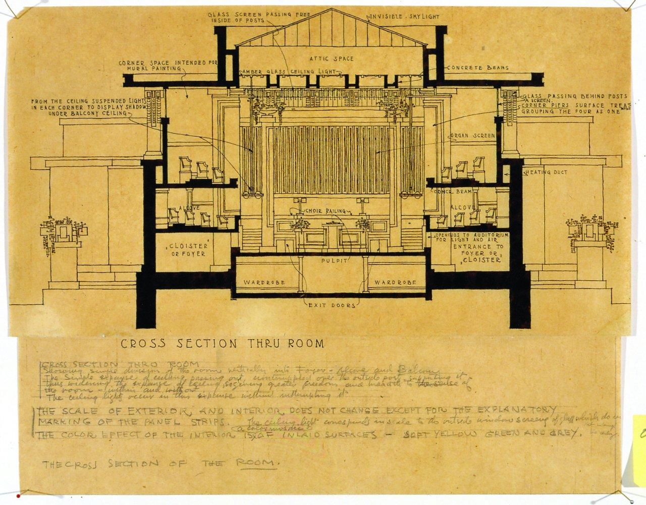 Frank Lloyd Wright, Templo Unitario, Oak Park, Illinois, 1905-08 © 2010 Frank Lloyd Wright Foundation, Scottsdale, Arizona