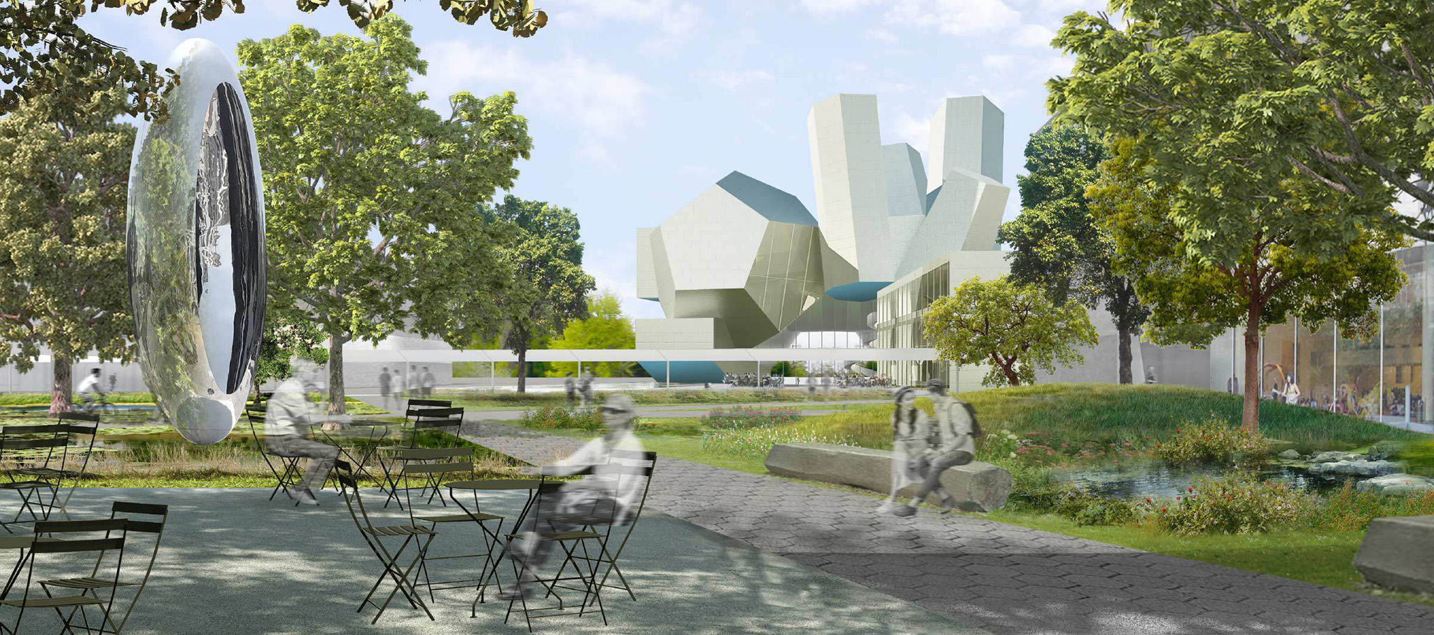 University College Dublin's Future Campus by Steven Holl Architects. Rendering by Steven Holl Architects