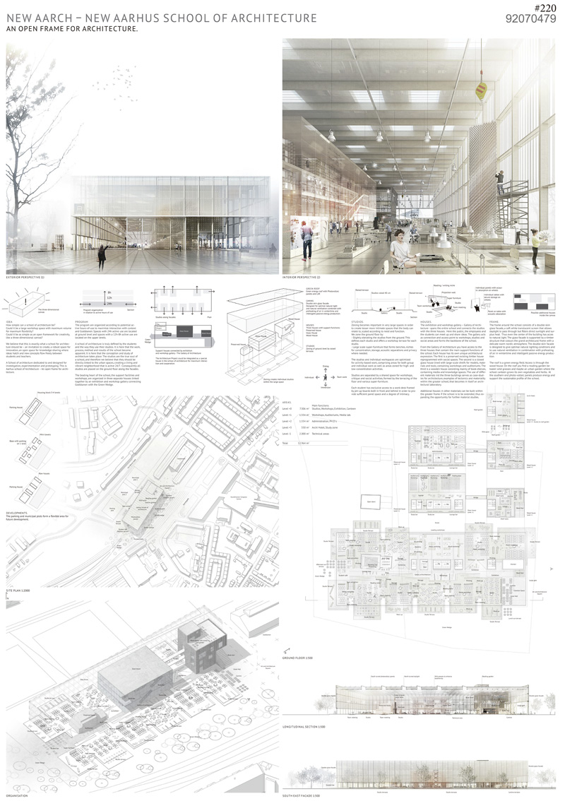 Architectural Design Panels : Winners of the competition for new aarhus school
