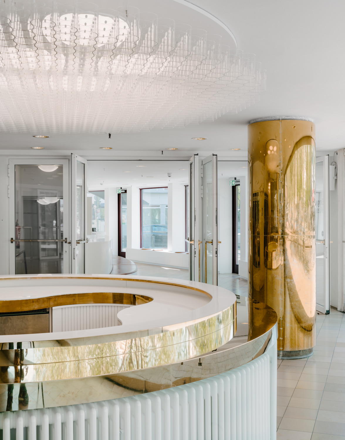 Renovation of reception area of the Schaubühne Berlin by Barkow ...