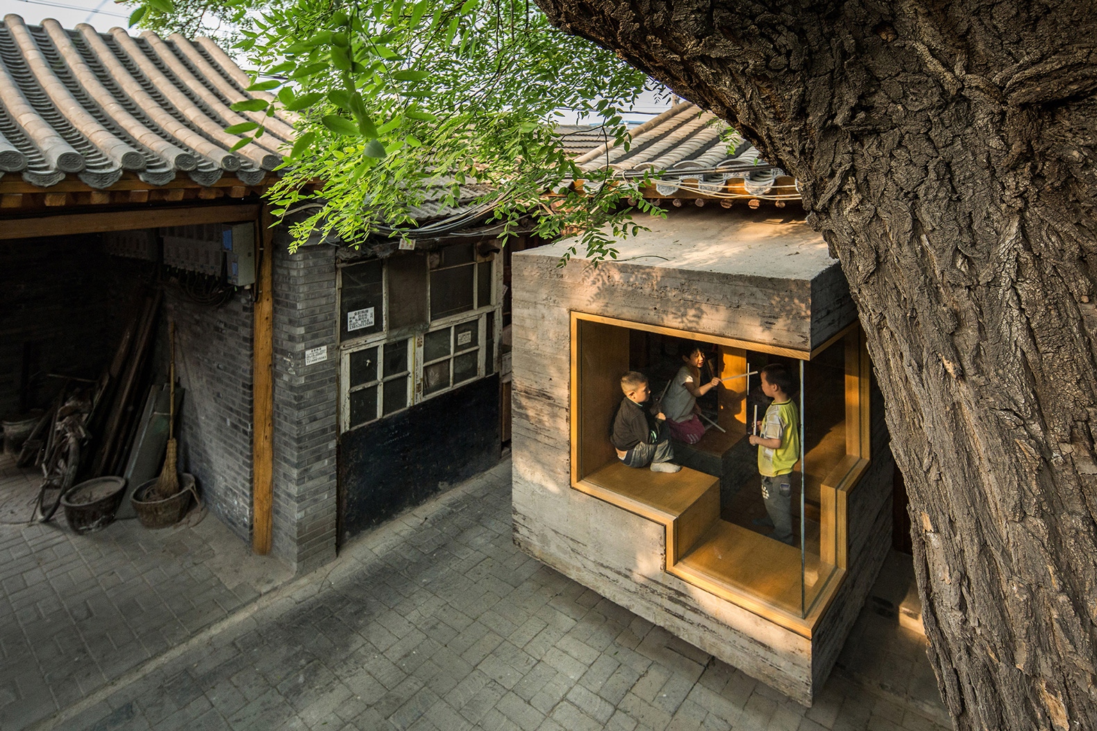 Hutong Children S Library Amp Art Centre By Zao