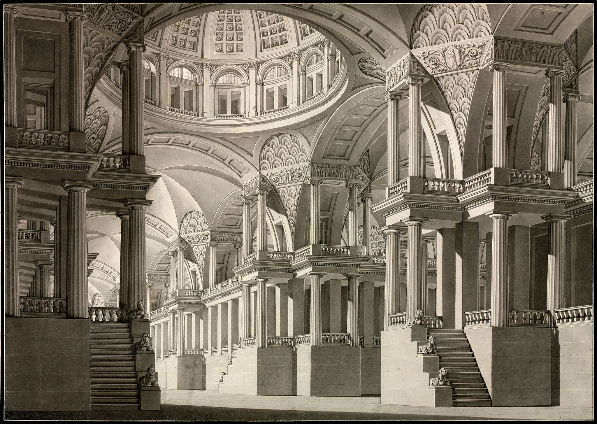 architecture and ornamentation drawings from the national