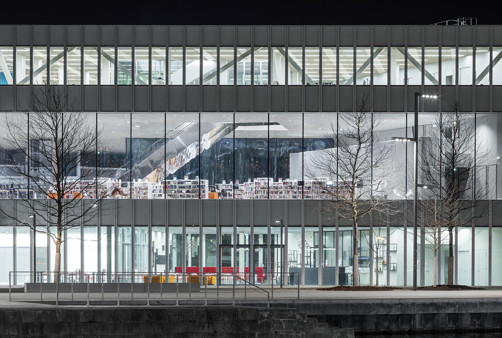 Open to the Public. New Library of Caen designed by OMA and Barcode ...