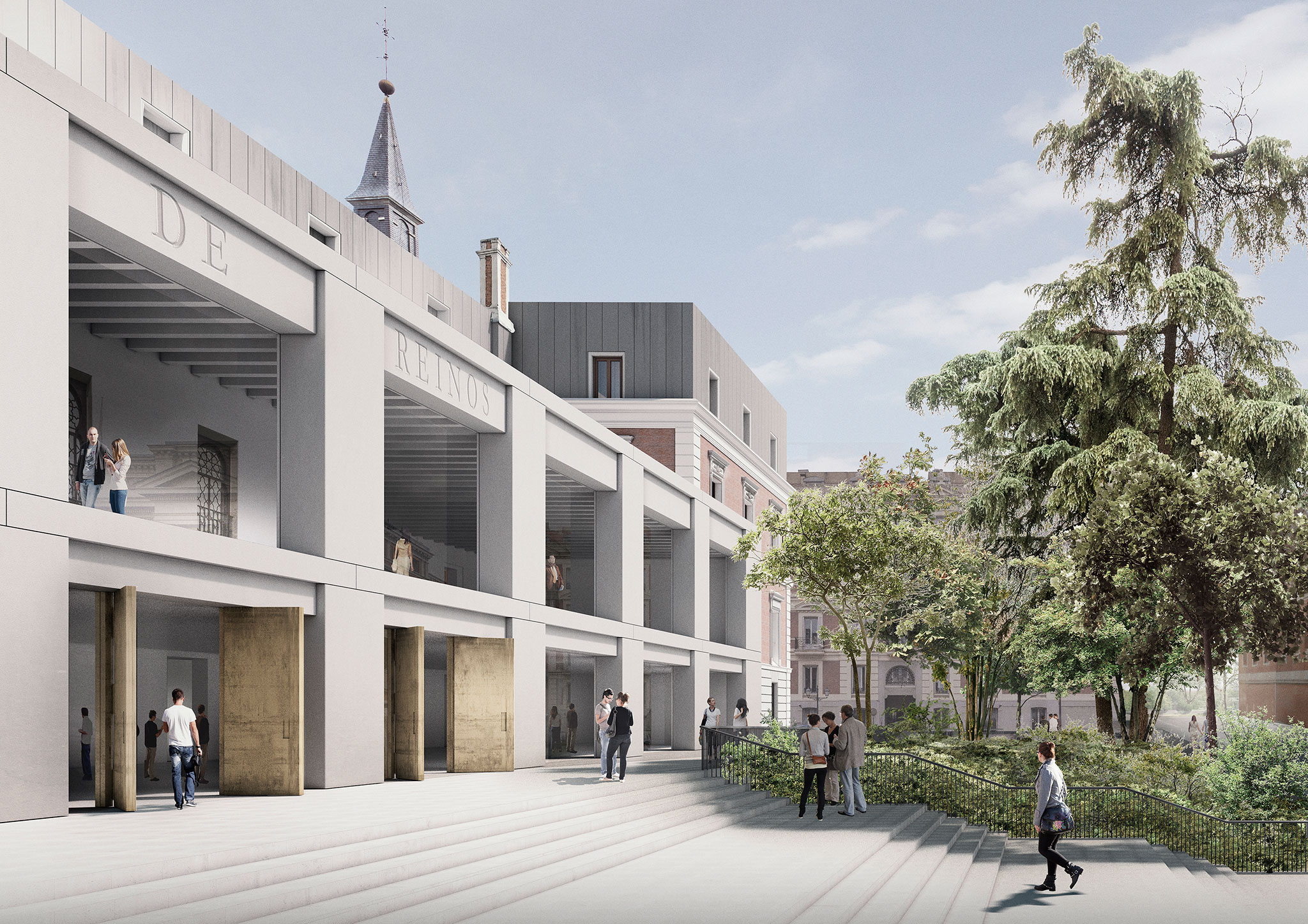 El prado extension el sal n de reinos proposal by david for Chipperfield arquitecto