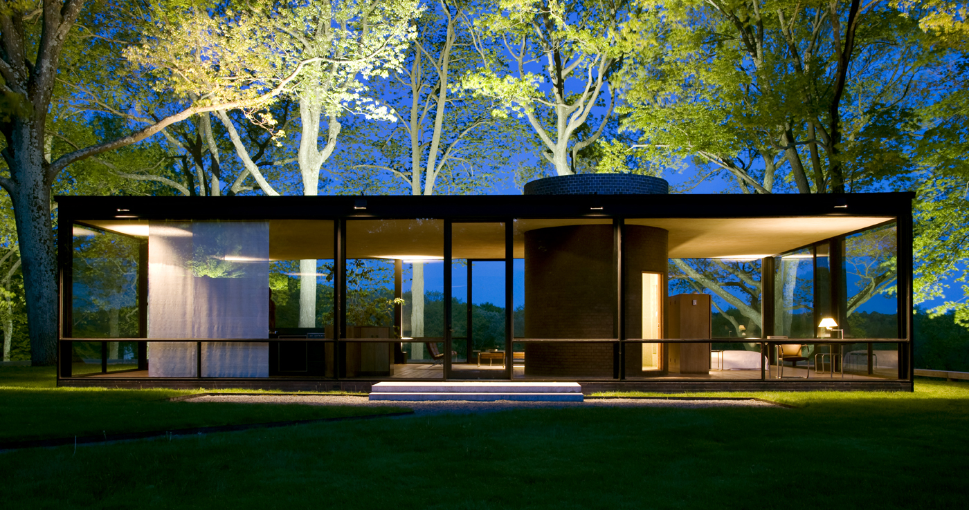 Desmaterialization of the wall The Glass House – Philip Johnson Glass House Floor Plan