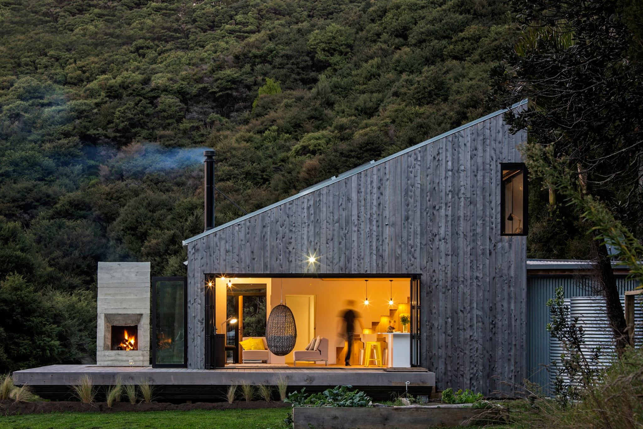 Una casa de campo por David Maurice. Una vivienda en Puhio ...