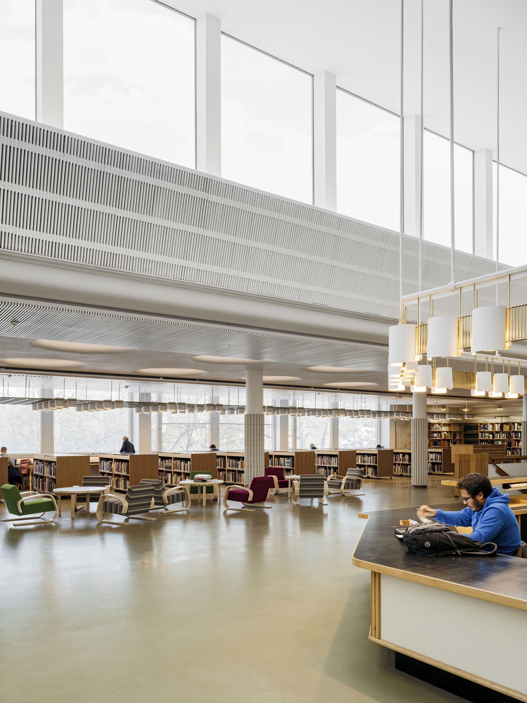 Interior Renovation Of Aalto University Library Vs Harald