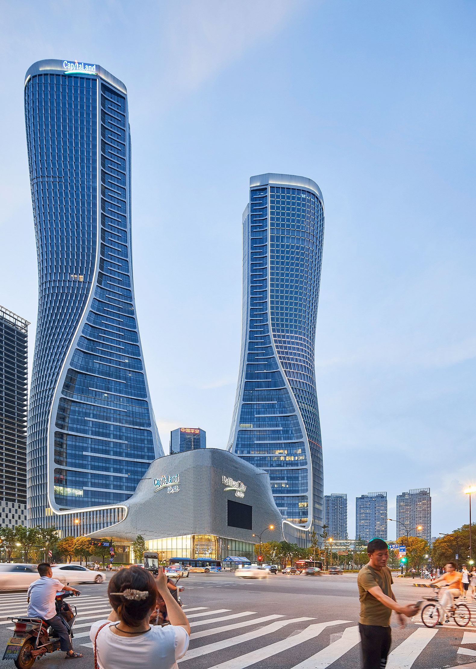 unstudio finishes raffles city hangzhou complex with