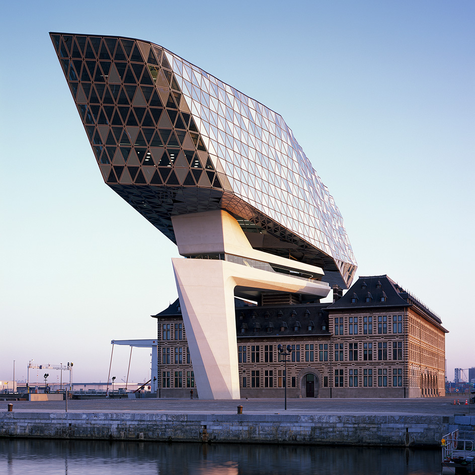 zaha hadid architects completes the antwerp 39 s new port house metalocus. Black Bedroom Furniture Sets. Home Design Ideas