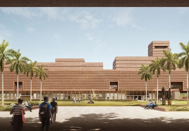 Rendering of the planned Edo Museum of West African Art (EMOWAA) in Benin City. Image by Adjaye Associates