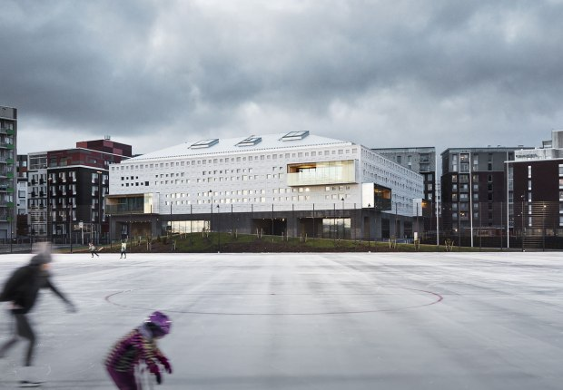 Escuela Jätkäsaari por AOR Architects. Fotografía por Kuvatoimisto Kuvio.