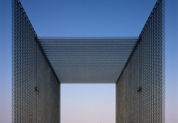 Expo 2020 Dubai's entry portals by Asif Khan. Photograph by Helene Binet