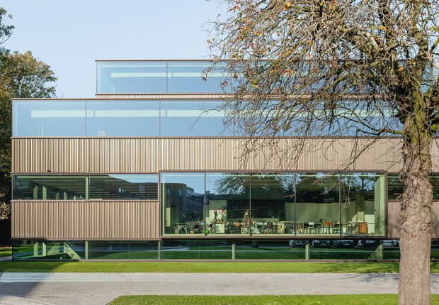Transformation and extension of Sint Lucas School of Arts by Atelier Kempe Thill. Photograph by Architektur-Fotografie Ulrich Schwarz