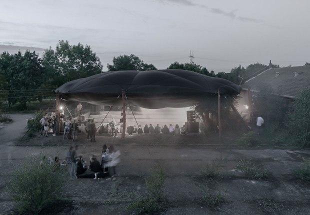 Techo para un cráter / Ceiling for a crater por Atelier Tomas Dirrix. Fotografía por Olmo Peeters, Illias Teirlinck, Maxim Verbueken, Jeroen Verrecht