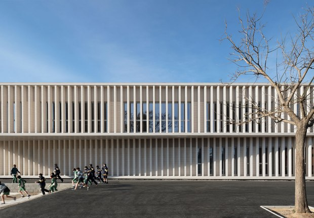 Camp Joliu School by bxd arquitectura. Photograph by Aleix Bagué