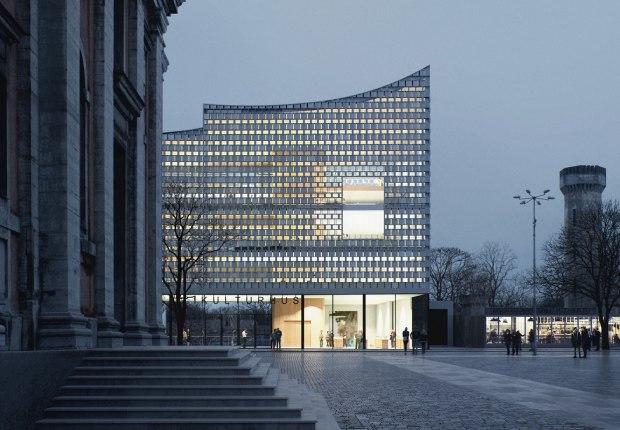 Biblioteca y casa de la cultura en Karlskrona por Dorte Mandrup. Visualización por MIR