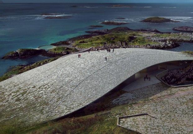 """Dorte Mandrup ganadora para construir """"The Whale"""", un edificio cultural en Noruega sobre las ballenas. Imgen por MIR"""