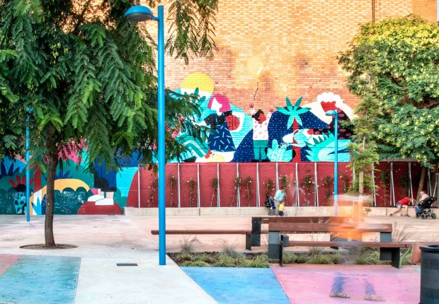 Fem dissabte a la Plaça d'en Baró! A feminist square designed with childhood by Equal Saree. Photograph by Conchi Berenguer Urrutia