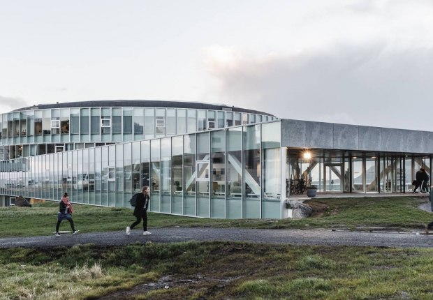 The new Glasir Education Centre in Torshavn by BIG. Photograph by Rasmus Hjortshoj