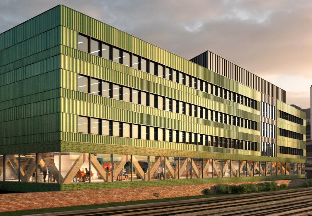 Rendering. Paradise building by Feilden Clegg Bradley Studios. Courtesy of FCBStudios