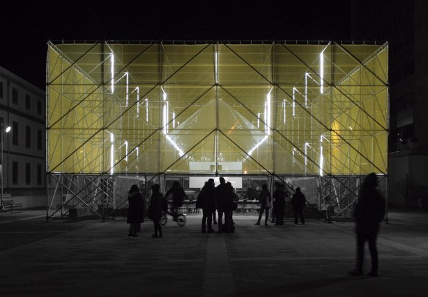 Tribuna Pública by Flu-or Arquitectura and Alba González. Photograph by Luis Santalla