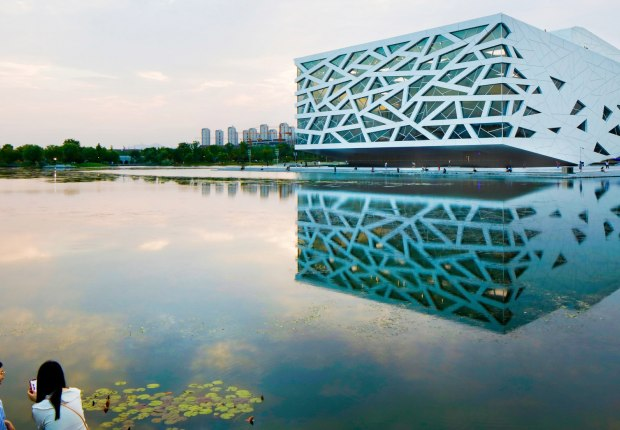 Hangzhou Yuhang Opera by Henning Larsen Architects. Photograph by Philippe Ruault