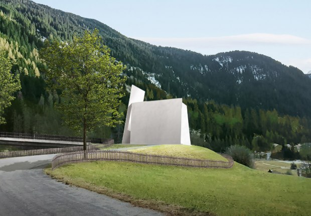 515 autobahn worship by Herzog & de Meuron. Visuals are by Aron Lorincz Ateliers, courtesy of Herzog & de Meuron
