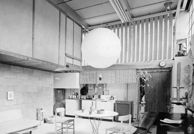 Isamu Noguchi's 10th Street studio (kitchen), Long Island City, c. 1960s. The Noguchi Museum Archive. ©The Isamu Noguchi Foundation and Garden Museum, New York / Artists Rights Society (ARS).