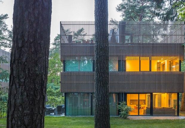 Pasaku st. houses by Paleko architektų studija. Photograph by Norbertas Tukaj.