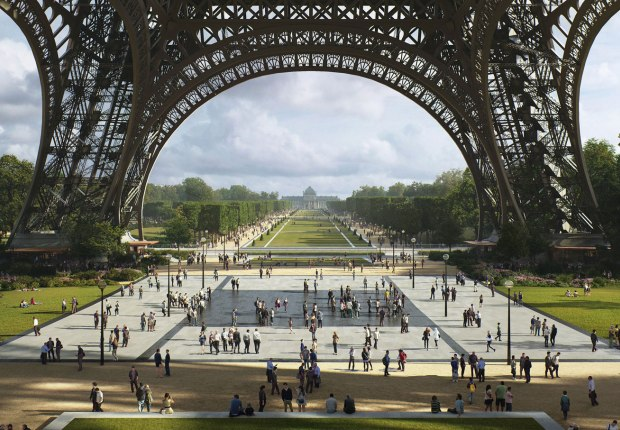 The Eiffel Tower Esplanade. Gustafson Porter + Bowman, Winners of the Site Tour Eiffel Competition. Image courtesy of ©MIR