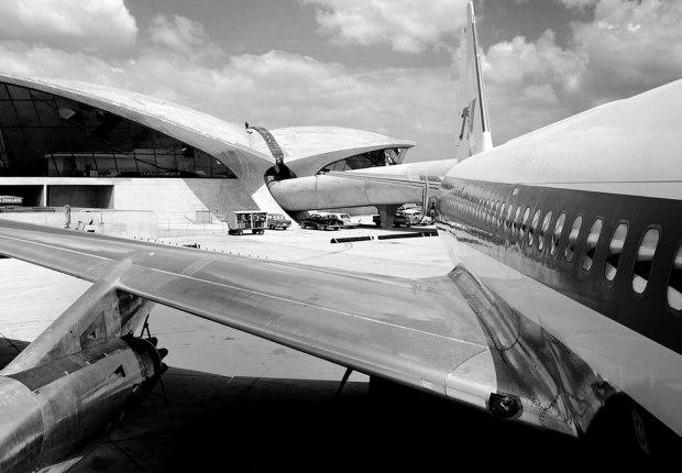Saarinen's TWA Terminal. Photograph by Ezra Stoller, Image courtesy TWA