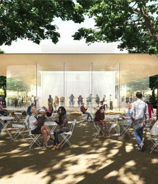 Union Park Dining Room: Apple Park Visitor Center, Designed By Foster + Partners