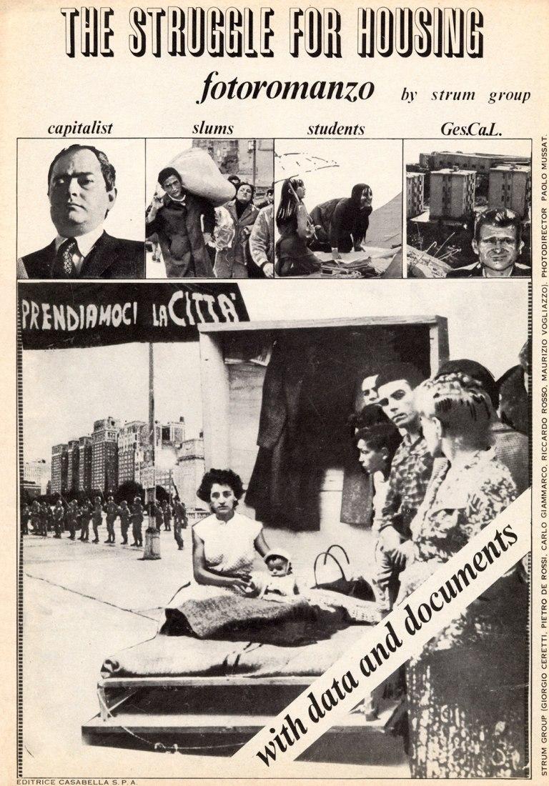 Gruppo Strum .La lluita per l'habitatge, 1972. Cortesia de Strum Group