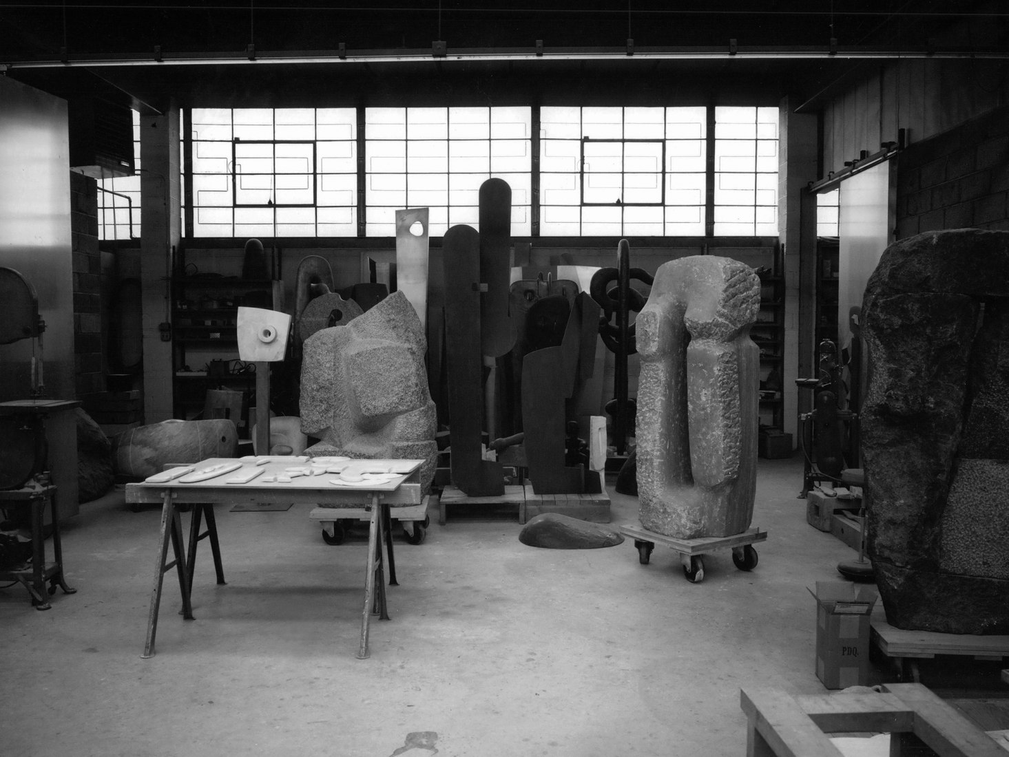​Isamu Noguchi's 10th Street studio (work space), Long Island City, c. 1960s. The Noguchi Museum Archive. ©The Isamu Noguchi Foundation and Garden Museum, New York / Artists Rights Society (ARS).