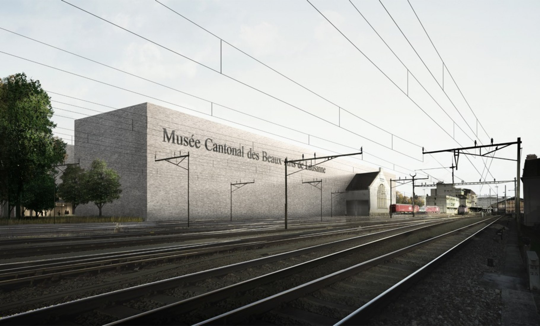 Exterior picture. Musée des Beaux-Arts at Lausana by EBV. Image courtesy of EBV.