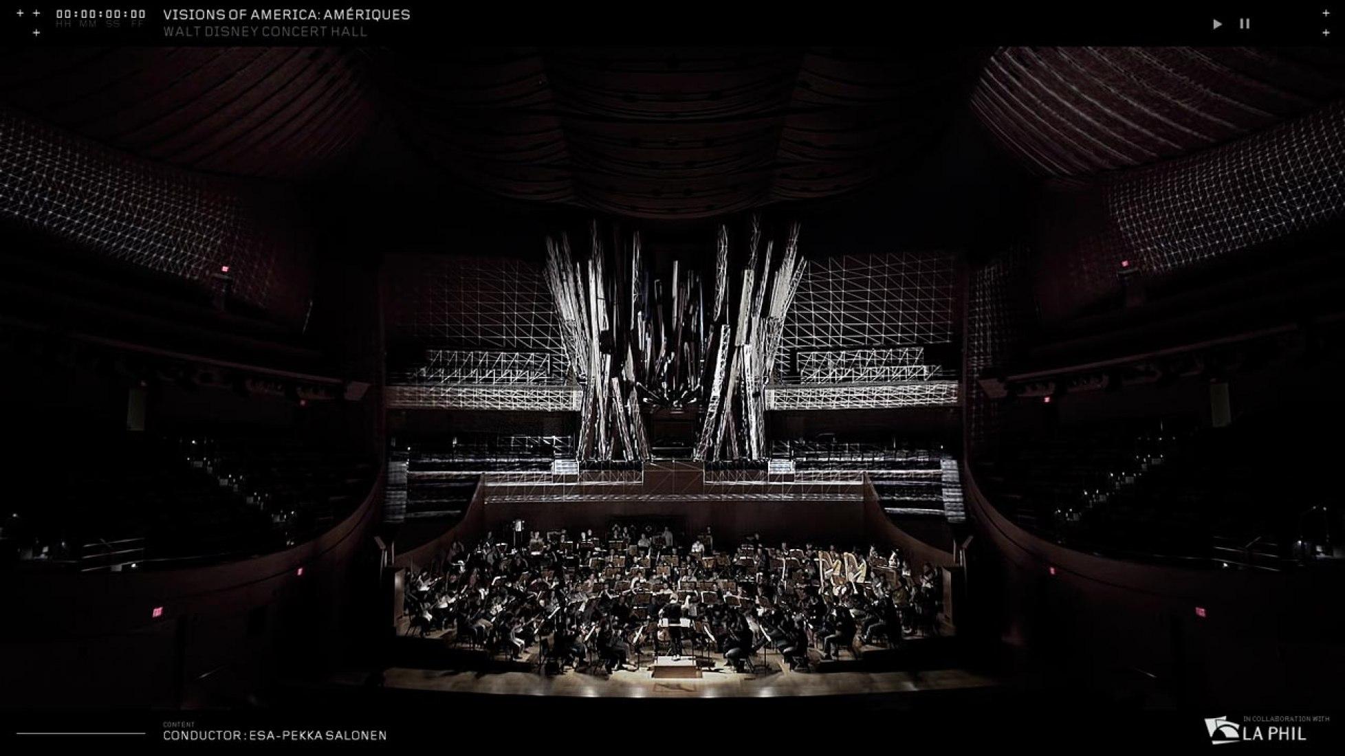 Visions of America: Amériques / LA Phil / Video Artist Cut. Image courtesy of Refik Anadol