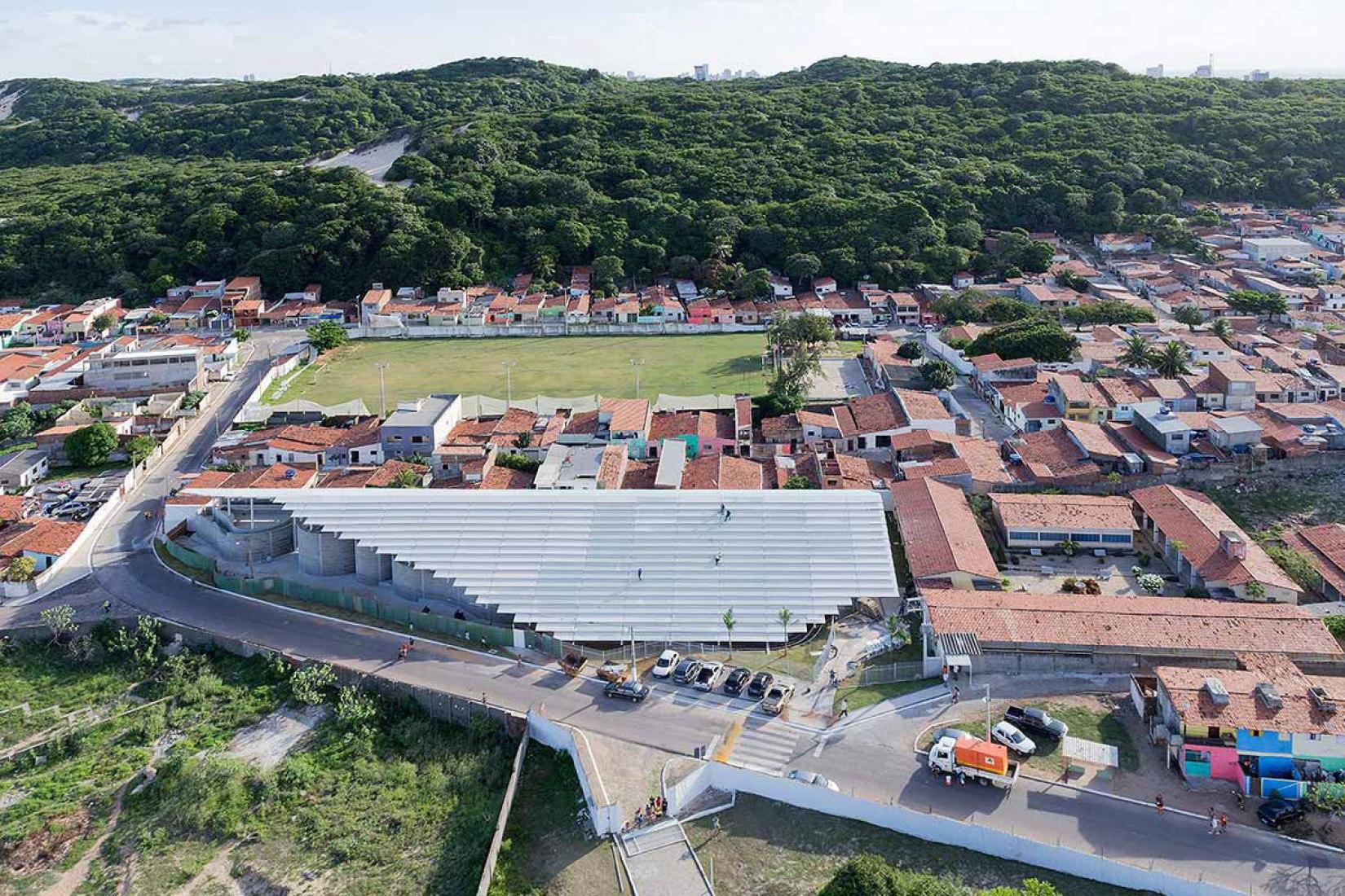 Vista de pajaro. Arena do Morro por Herzog & de Meuron.