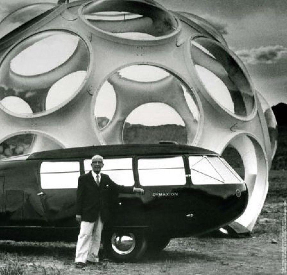 Fuller and the Dymaxion Car No. 3.