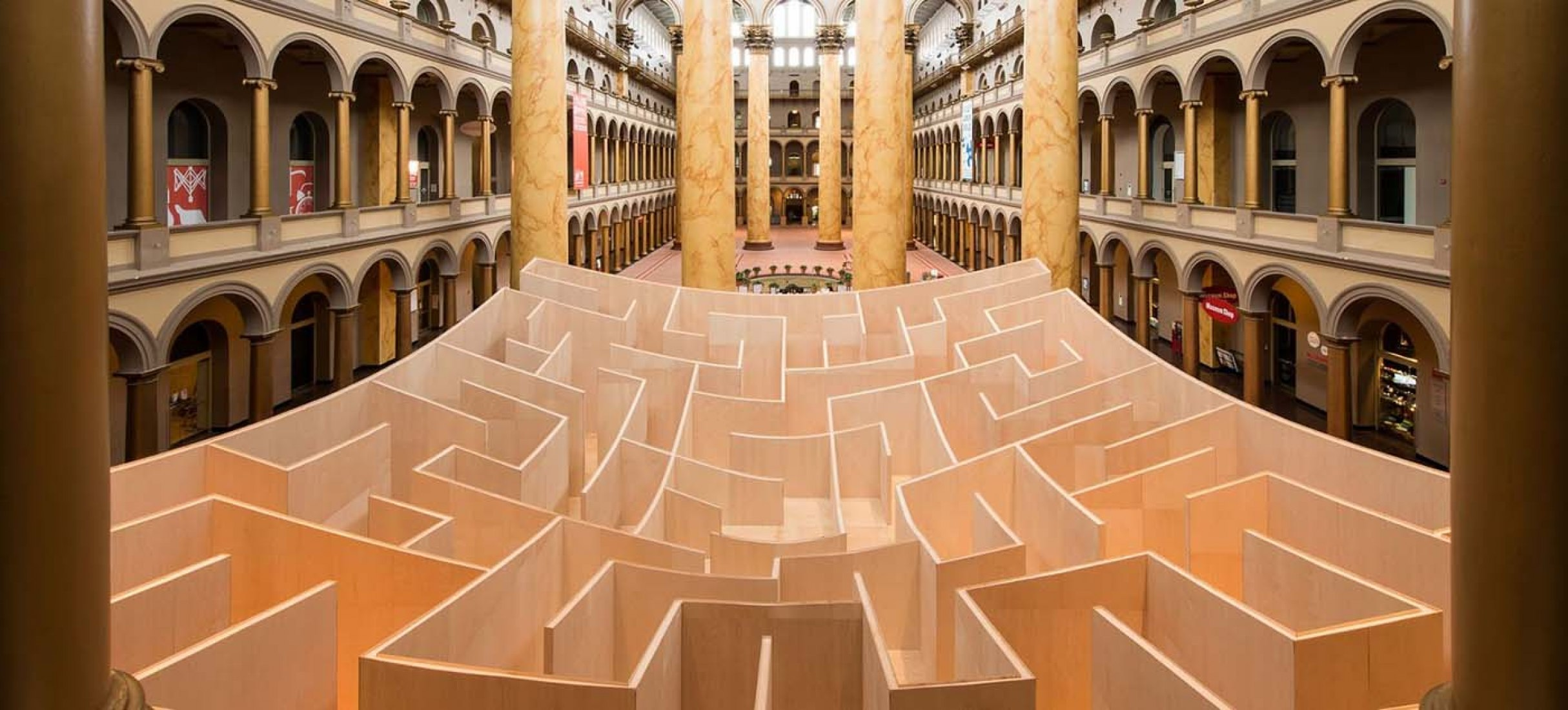 Big Maze at National Building Museum by BIG.