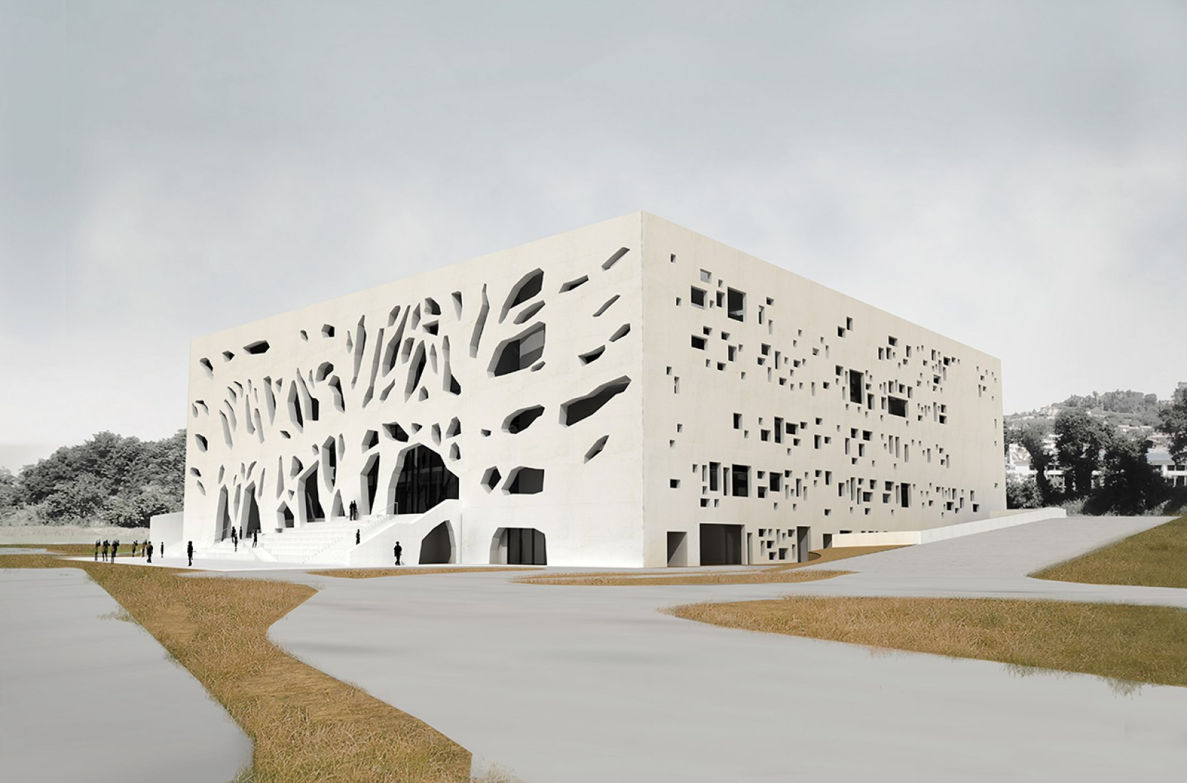 Fachada sureste. ANIMA por Bernard Tschumi. Imagen © Bernard Tschumi Architects.