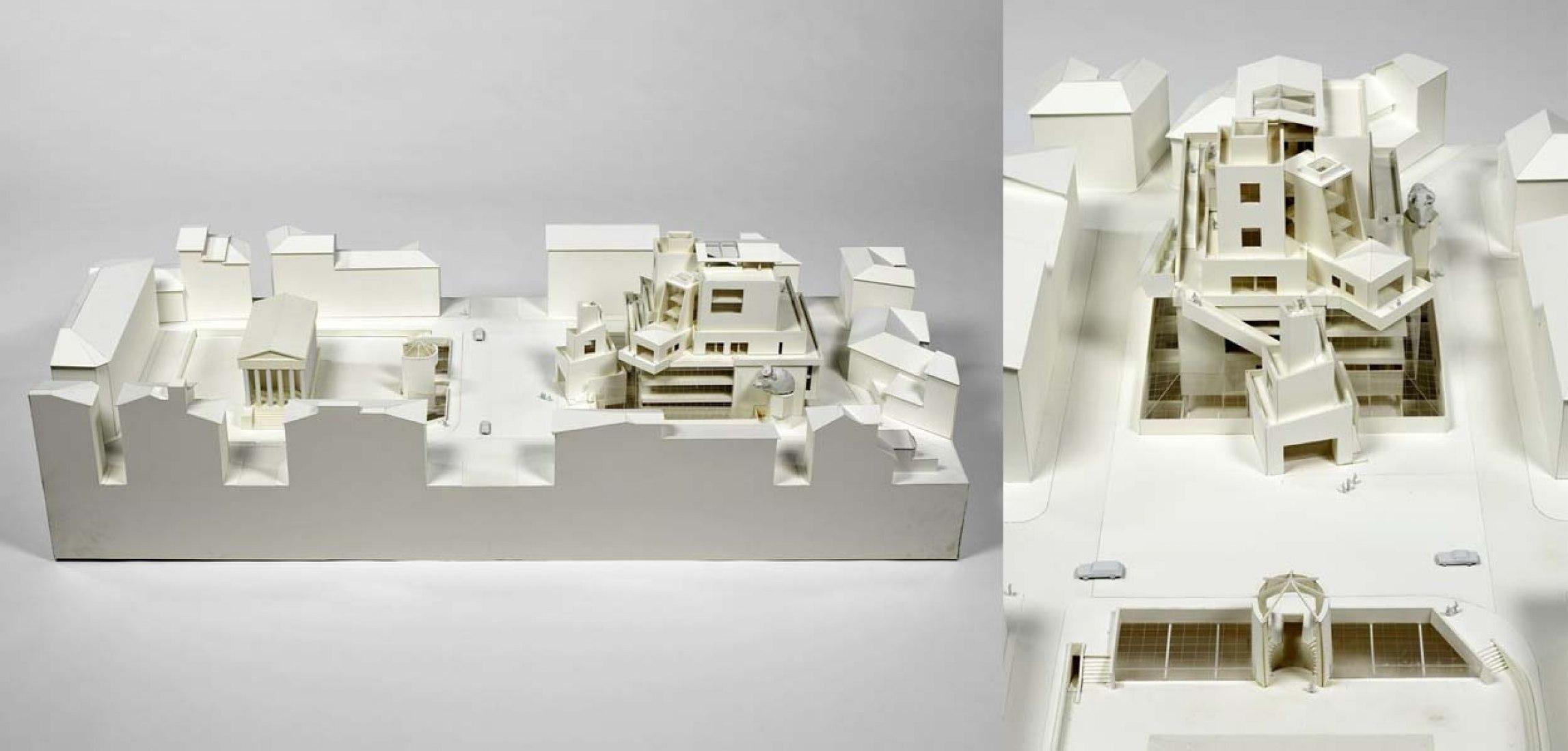 Frank O Gehry (Frank Owen Gehry, dit), Carré d'art, projet pour le concours pour la Médiathèque et le Centre d'art contemporain, Nîmes, 1984. Fotografía © Philippe Migeat - Centre Pompidou, MNAM-CCI (diffusion RMN) © Frank O. Gehry.