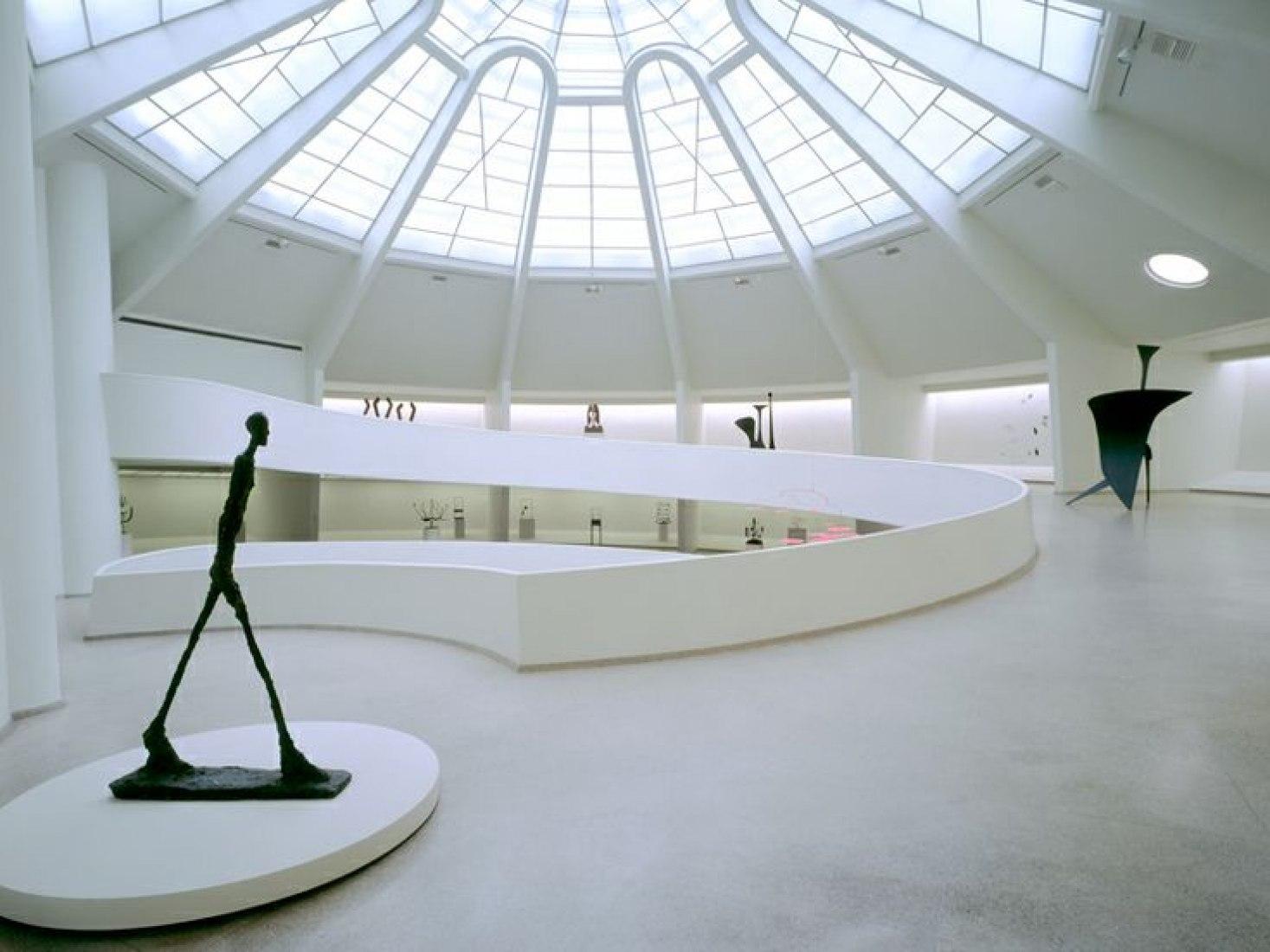 The Solomon R. Guggenheim interior. (Courtesy the Guggenheim Foundation).