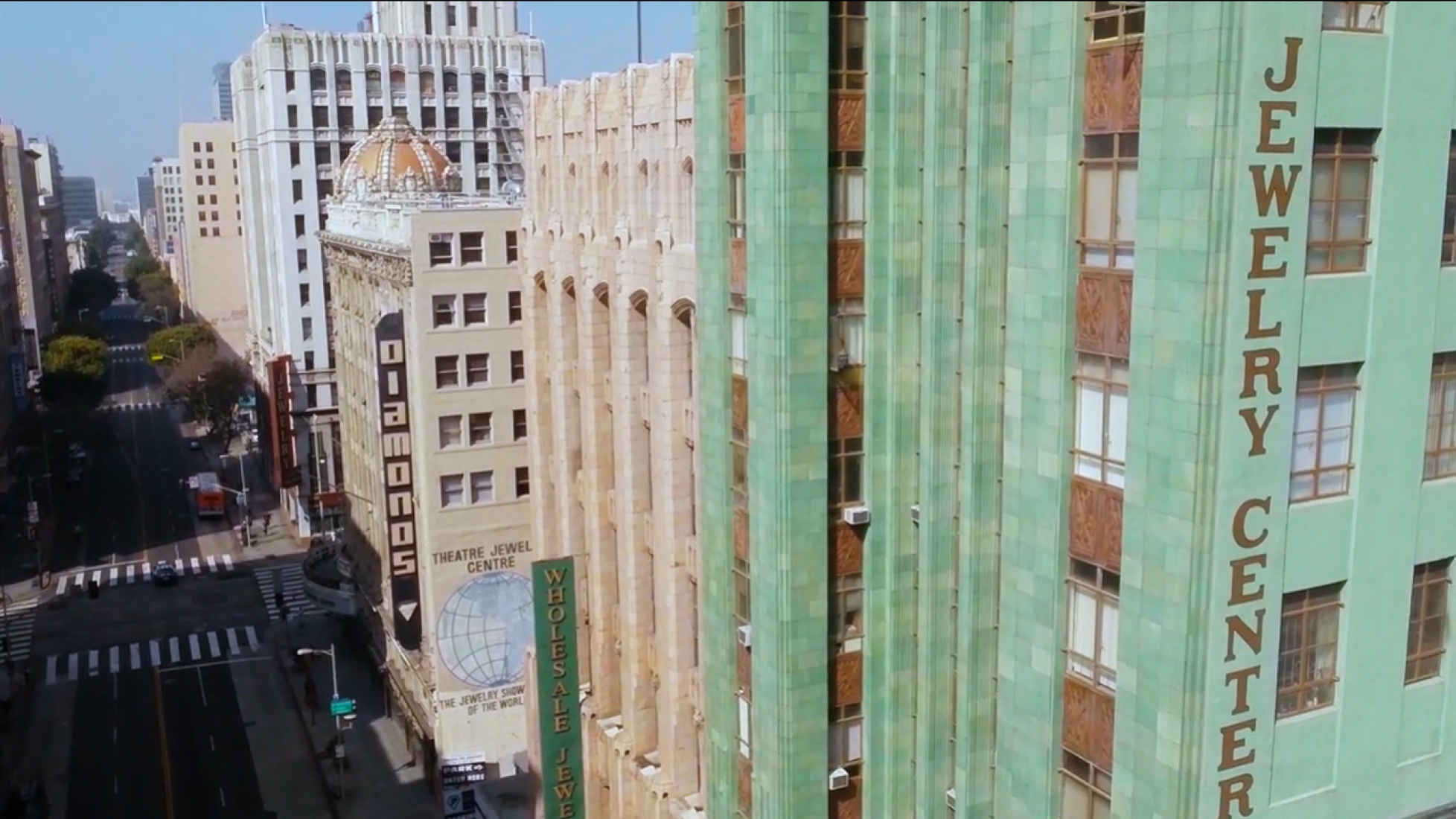 Video screenshot, Downtown Los Angeles by Ian Wood.