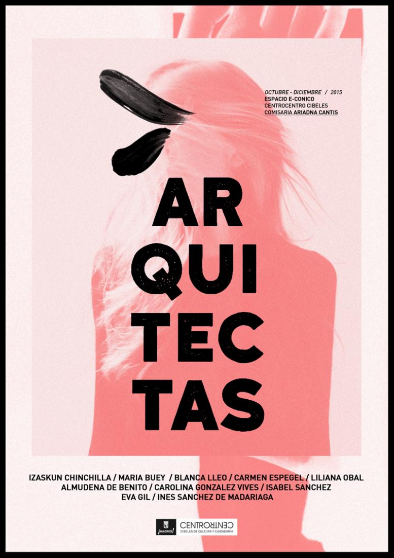 Cartel de la instalación ARQUITECTAS en Centro Centro.