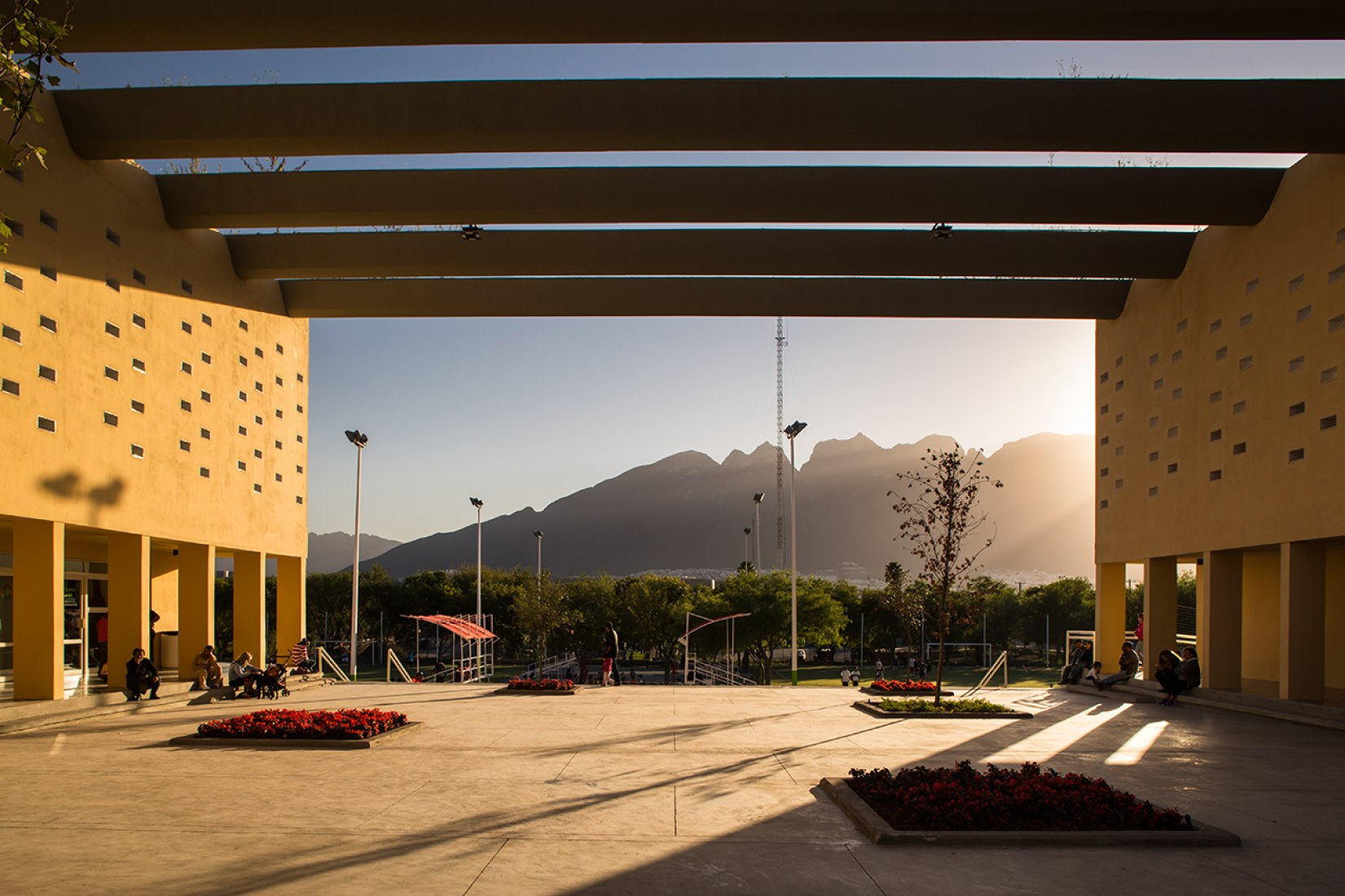 Community Centre San Bernabé in Monterrey by Pich-Aguilera Architects. Photography © Jorge Taboada.