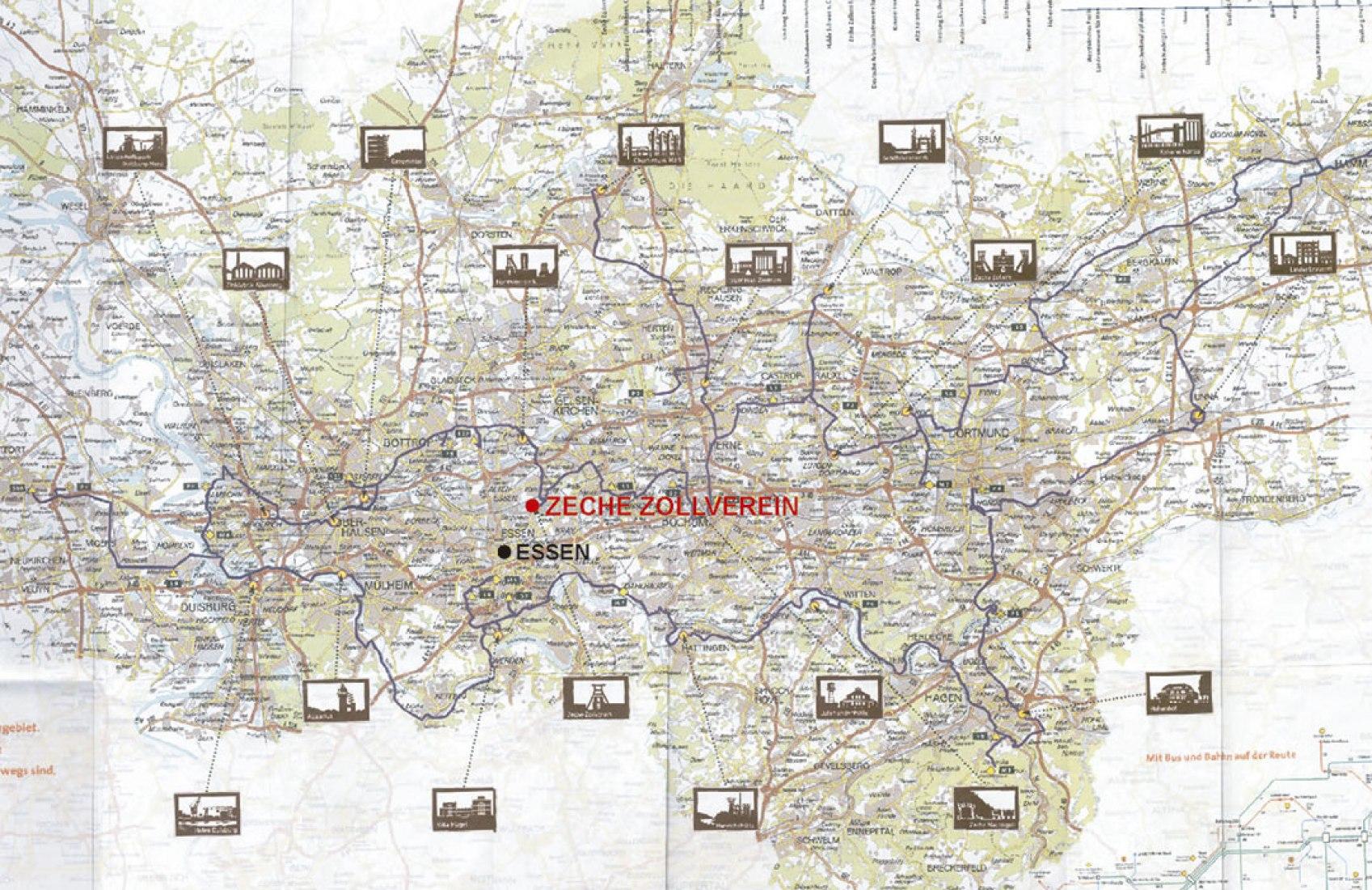 Plano de situación del Plan General de Zollverein por OMA. Imagen © OMA, Office for Metropolitan Architecture.