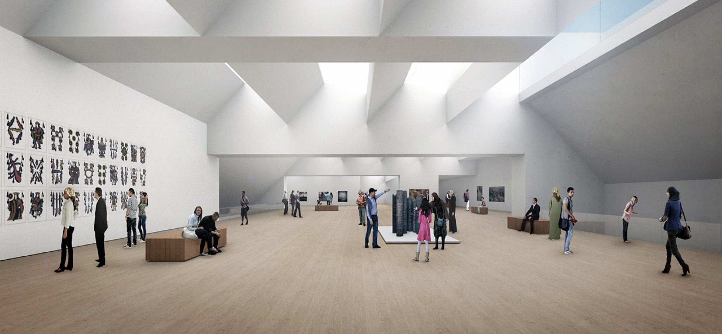 Exhibition space. New MACAAL in Marrakech by Nieto Sobejano Arquitectos. Image courtesy of Nieto Sobejano Arquitectos.