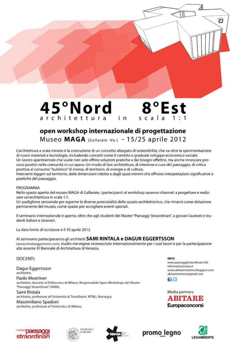 Studio Architettura Paesaggio Milano 45º north 8ºeast. architecture in scale 1:1 | the strength