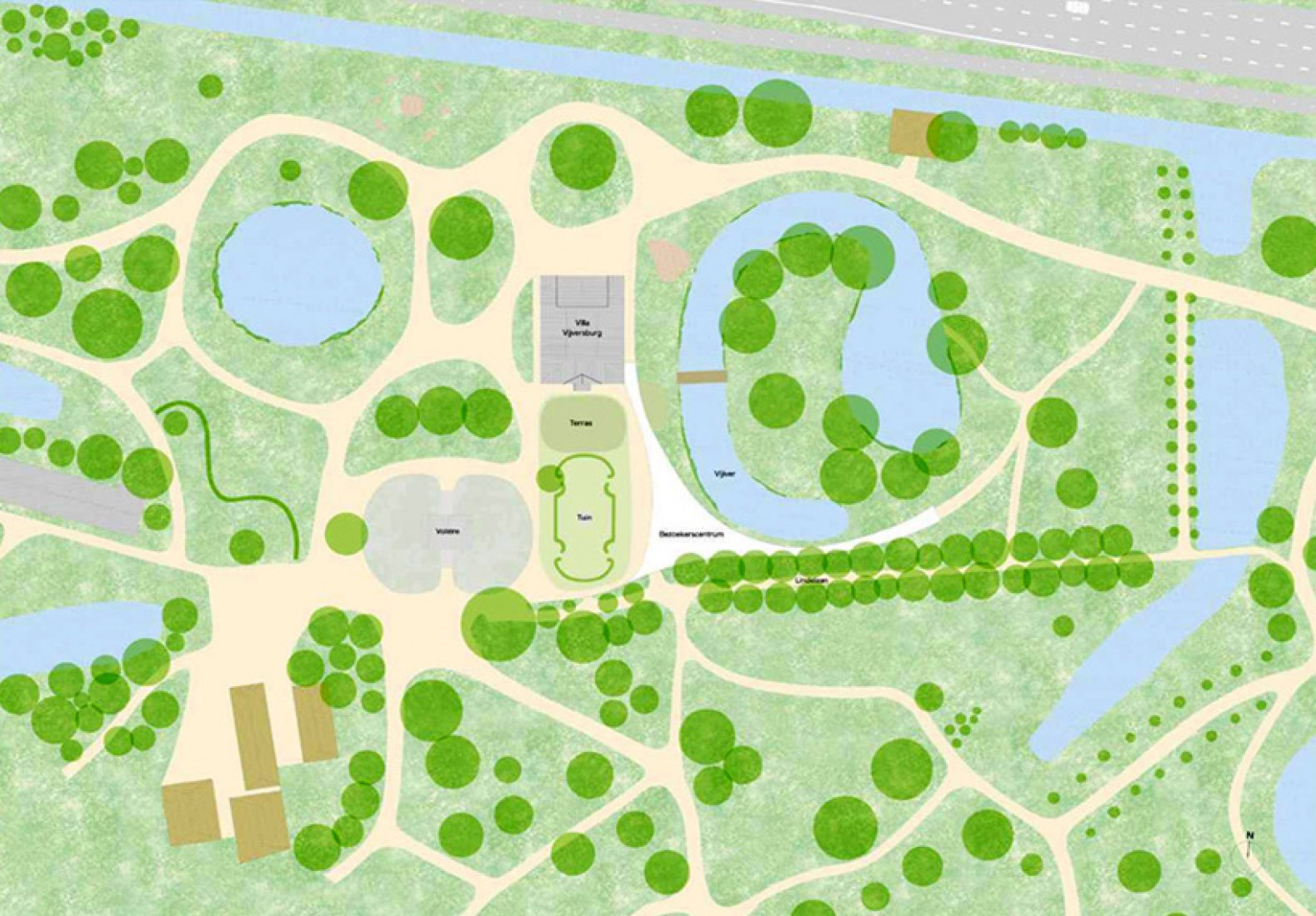 Site plan of the new visitor center.