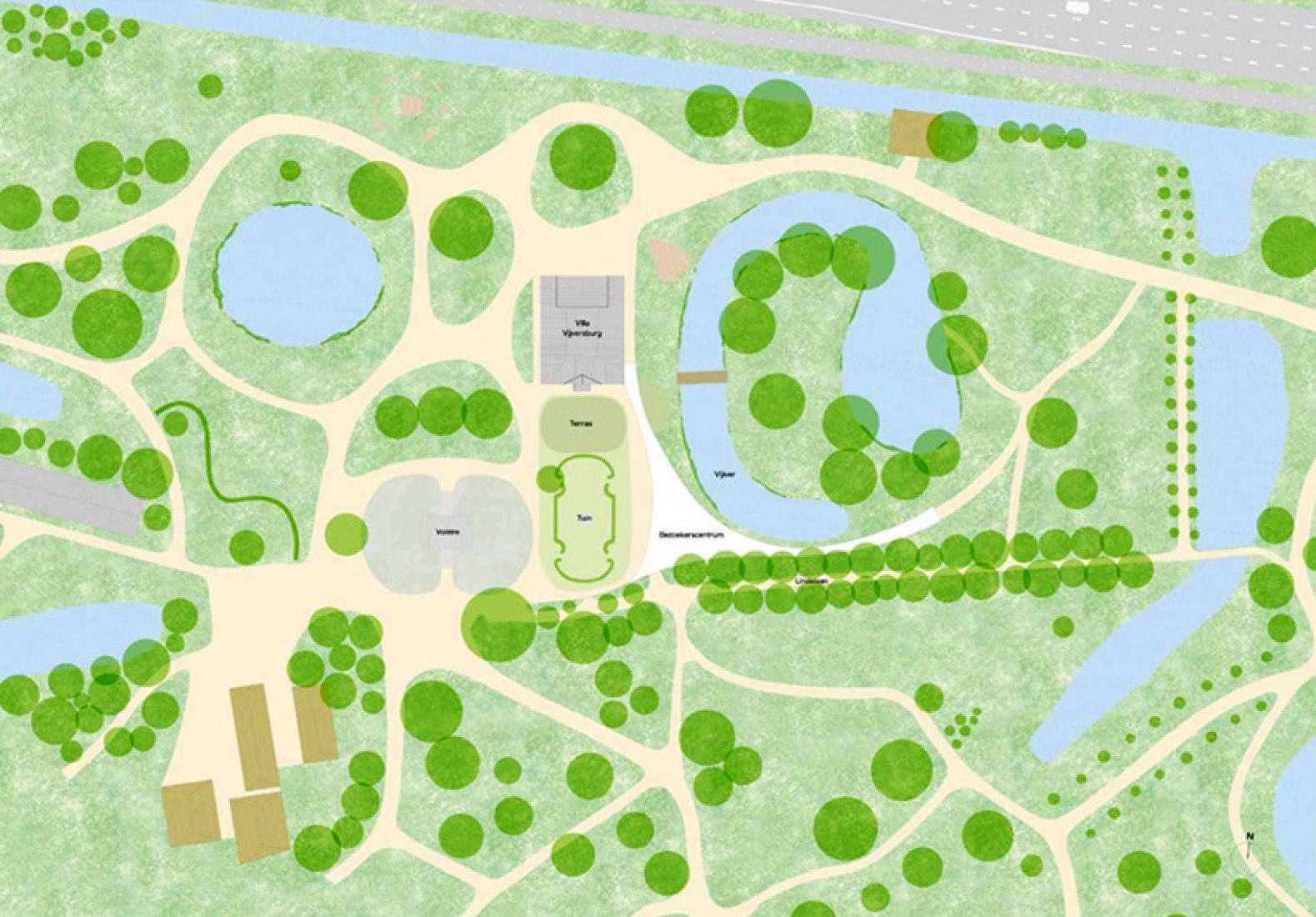 Plano de situación del nuevo centro de visitantes.
